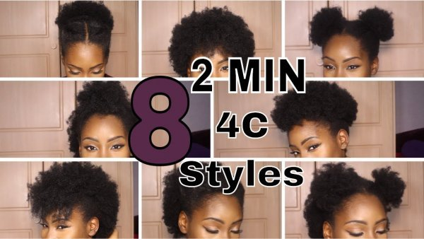 SUPER QUICK HAIRSTYLES ON SHORT 4C HAIR top